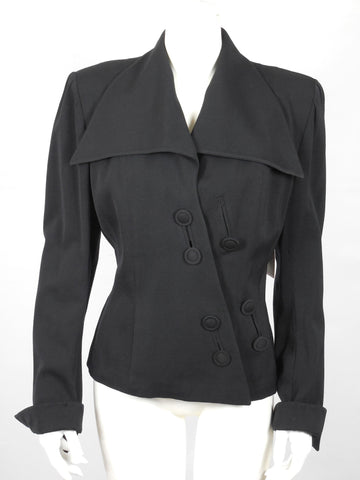 SOLD! 1946 1947 Lilli Ann Rich Black Gabardine Jacket