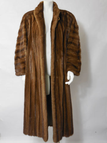 SOLD! 1980 Bob Mackie Full Length Mink Coat So Beautiful and Soft To The Touch