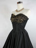 RESERVED 1950's Vintage Black Prom Dress with Lace Shelf Bust