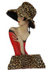 SOLD! 1960's Vintage Leopard Print Floppy Hat and Matching Clutch Purse