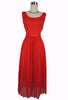 SOLD! 1960's Vintage Melo of California Red Chiffon Cocktail Dress