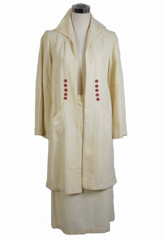 SOLD! 1930's Rare NRA Label Vintage Cream Suit
