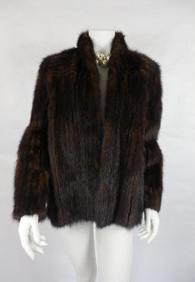 1950's Vintage Dark Brown Mink Coat