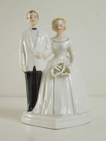 SOLD! VTG 1980 Originals By Toni Japan Bride and Groom Porcelain Wedding Cake Topper