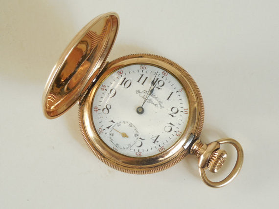 SOLD! Circa 1900 Waltham Pocket Watch Beautiful Hunter Case Antique Estate Vintage