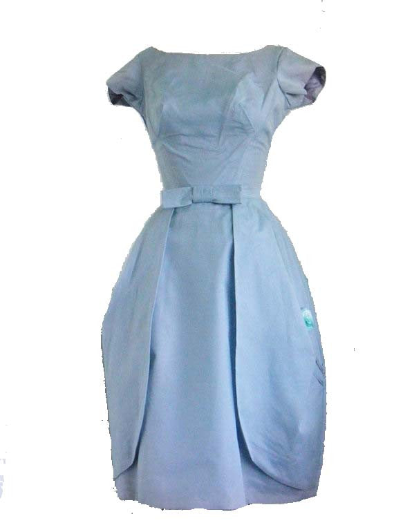 SOLD! 1950's Vintage Blue Organza Bubble Party Dress