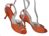 SOLD! 1950's Vintage Dead Stock Coral Suede Leather Slingback Heels by Mackey Starr New York
