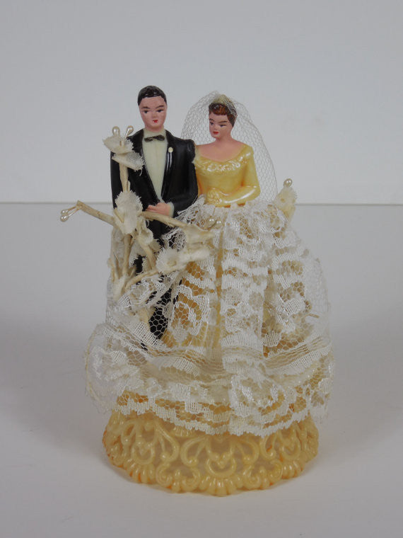 1950 Vintage Original Wedding Cake Topper Perfect