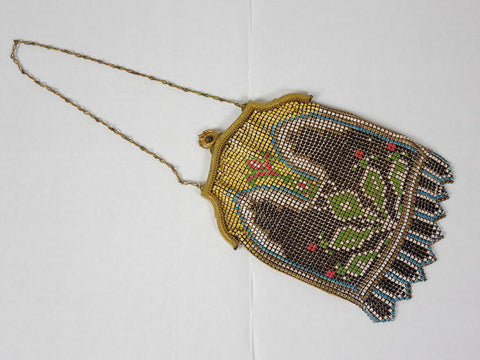 SOLD! 1900's Whiting and Davis Enameled Metal Mesh Purse