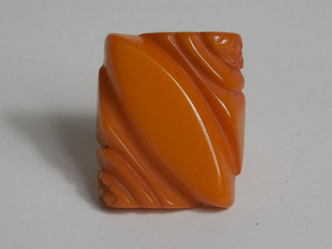 SOLD! 1930 1940 Large Bakelite Carved Butterscotch Ring Rare