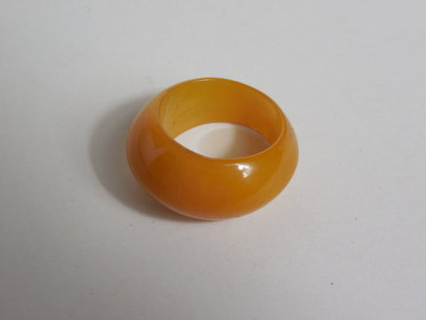 1930 1940 Bakelite Butterscotch Slightly Marbled Ring Band