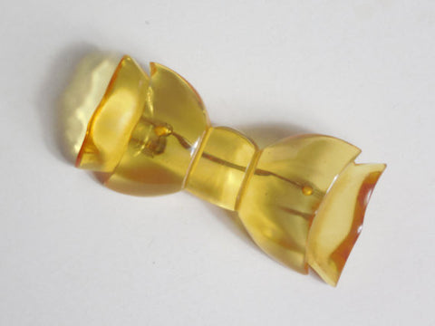 SOLD! 1930 1940 Large Bakelite Applejuice Ribbon Bow Brooch Pin Rare