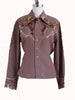 SOLD! 1940's Vintage Tan Sequined Western Blouse Shirt