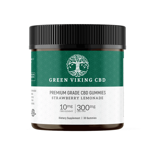 CBD Gummy Strawberry Lemonade 30ct 10mg - Green Viking CBD