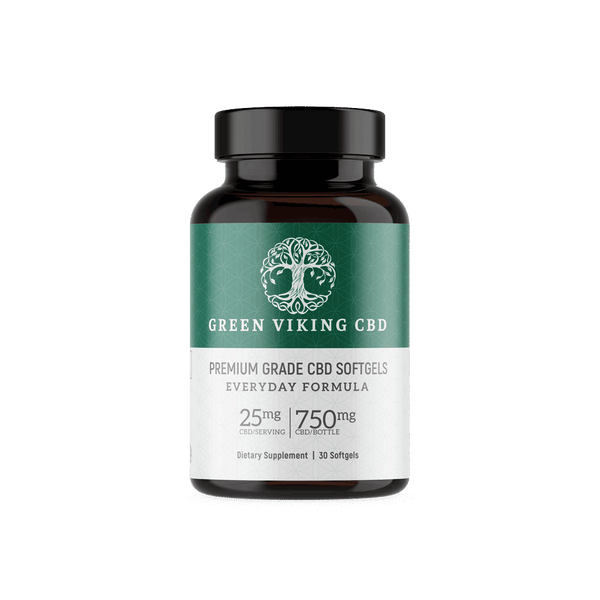 25mg Nano Softgels - Green Viking CBD