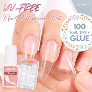 Nailover™ UV-free Nail Extension Kit (100 tips)
