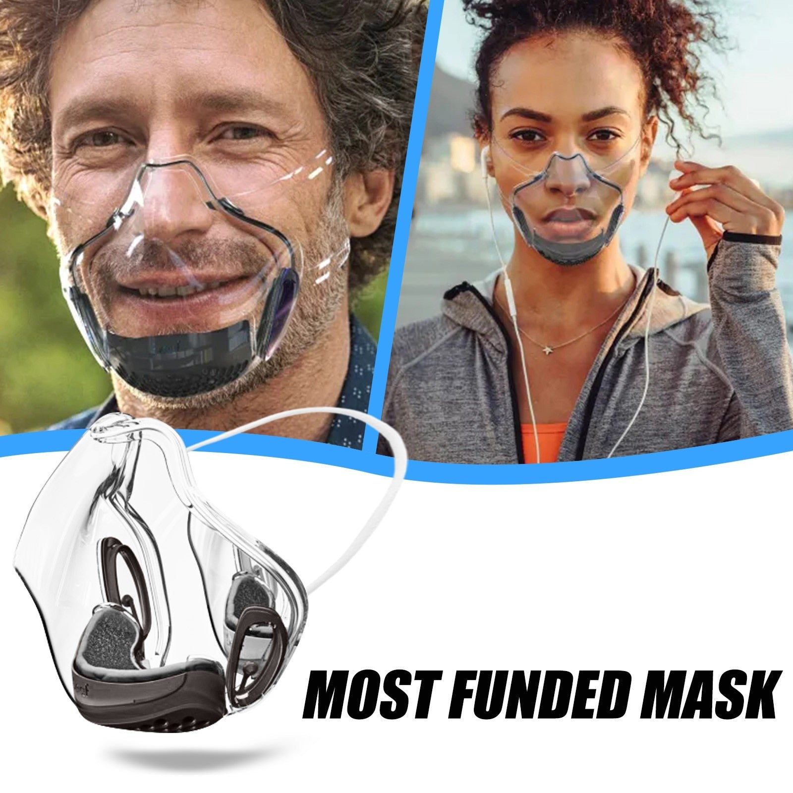 Clear Smart Silicone Reusable Mask