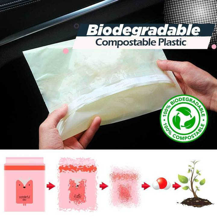 Biodegradable Self-adhesive Cleaning Bags