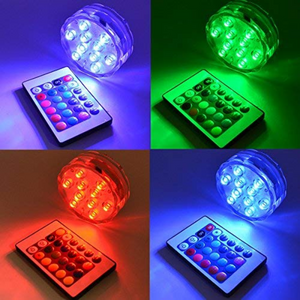 Submersible LED Remote Control Pool Lights