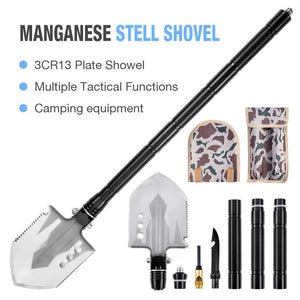 The Ultimate Survival Tool: 25-in-1 Folding Shovel