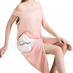 Absorbent Comfortable Wearable Bath Skirt