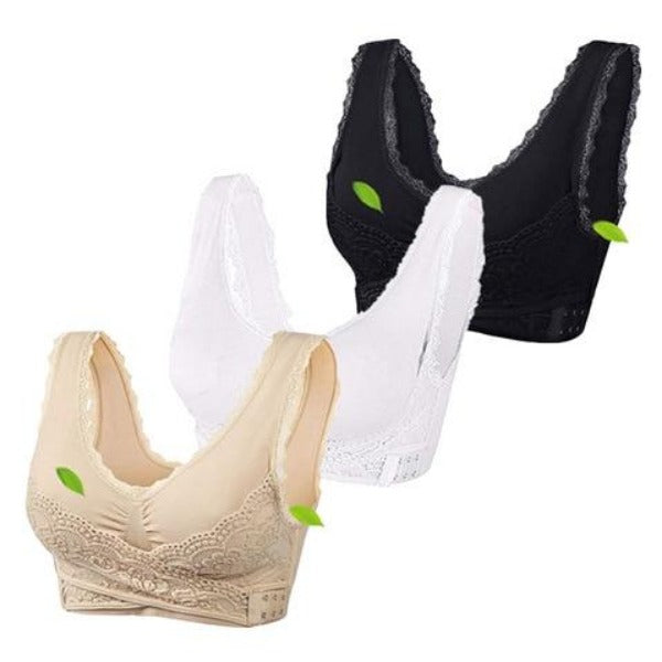 Anti-Sagging Wirefree Breathable Sports Bra (Set Of 3)