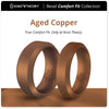 Aged Copper Bevel Comfort Fit Silicone Ring Man
