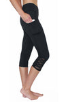 Black Crisscross - Large Pocket Capri