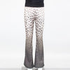 Bell Bottom Wild Print Pants - Brown