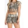 TREND FISHNET LEOPARD SHORTS