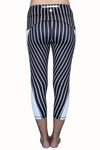 Vertical Stripe - Black and White - Pocket Tights - ON SALE