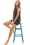 Loungewear set star print sleeveless top and short