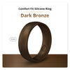 Dark Bronze Domed Comfort Fit Silicone Ring Man