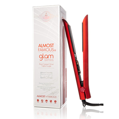 "Almost Famous 1.25"" Glam Series Flat Iron with Luxe Gem Infused Plates"