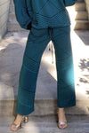 Eva Franco Teal and Black Brit Wit Jogger Pant