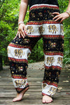Black ELEPHANT Pants Women Harem Pants Boho Pants