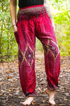 Red PEACOCK Women Boho Pants Hippie Pants Yoga Pants