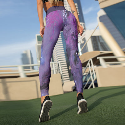 Dark Purple Liquid Beverly Leggings