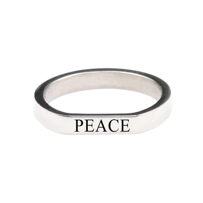 Peace Comfort Fit Flat Ring