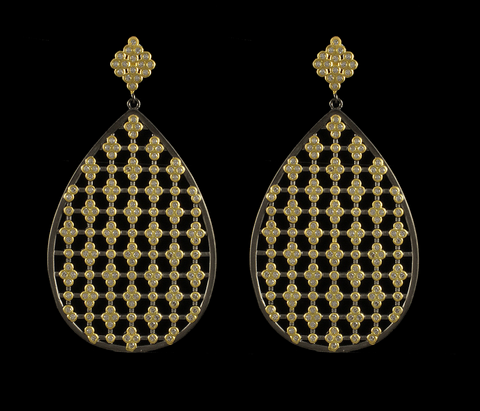 BJ PU6444E Teardrop Earring