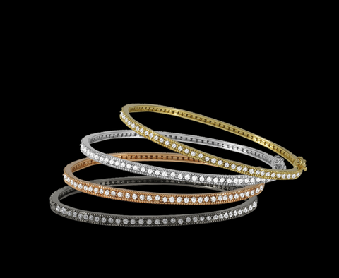 BJ SW3009B Pave Bangle