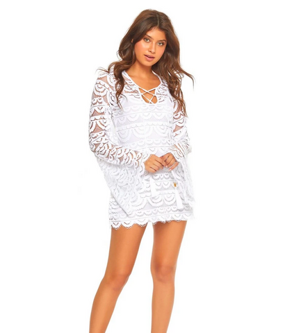 Pily Q 445D Lace Tunic Coverup
