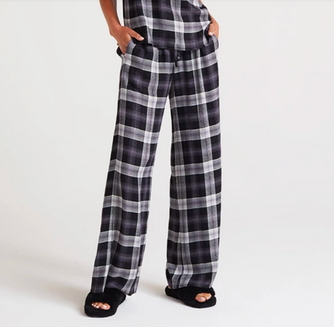 Wide Leg Plaid Pajama Pant