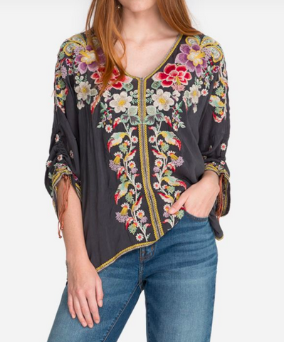 Evangeline Embroidery Top