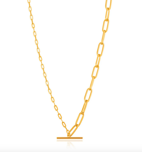 Mixed Link T-Bar Necklace