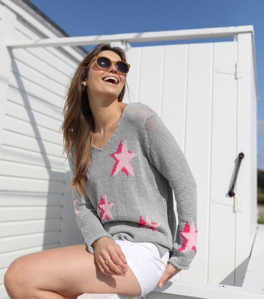 Seeing Stars V Cotton Sweater