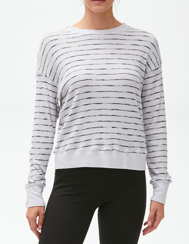 Michael Stars GiGi Thermal Striped Crew