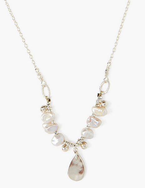 Grey Tiara Pearl Necklace NS-14319