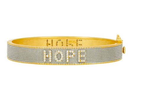 Freida Rothman Hope Hinged Bangle