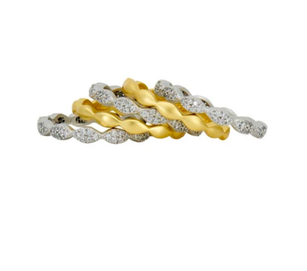 Freida Rothman Layers of Armor 5-Stack Ring